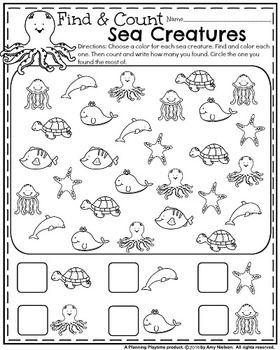 Drawn sea life kindergarten Kindergarten the creatures Best ocean