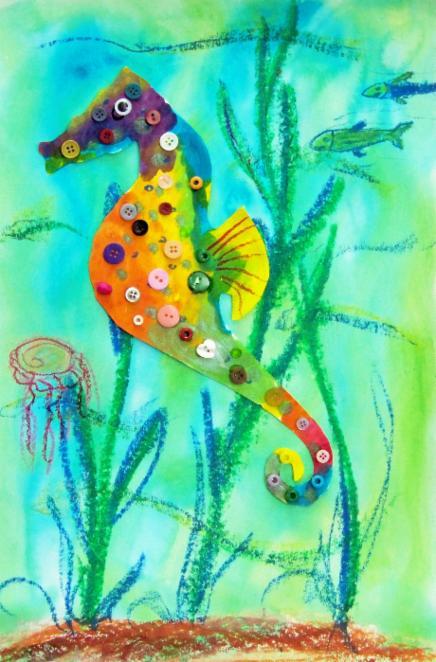 Drawn sea life kindergarten Sea (Ocean 70 Creative creatures