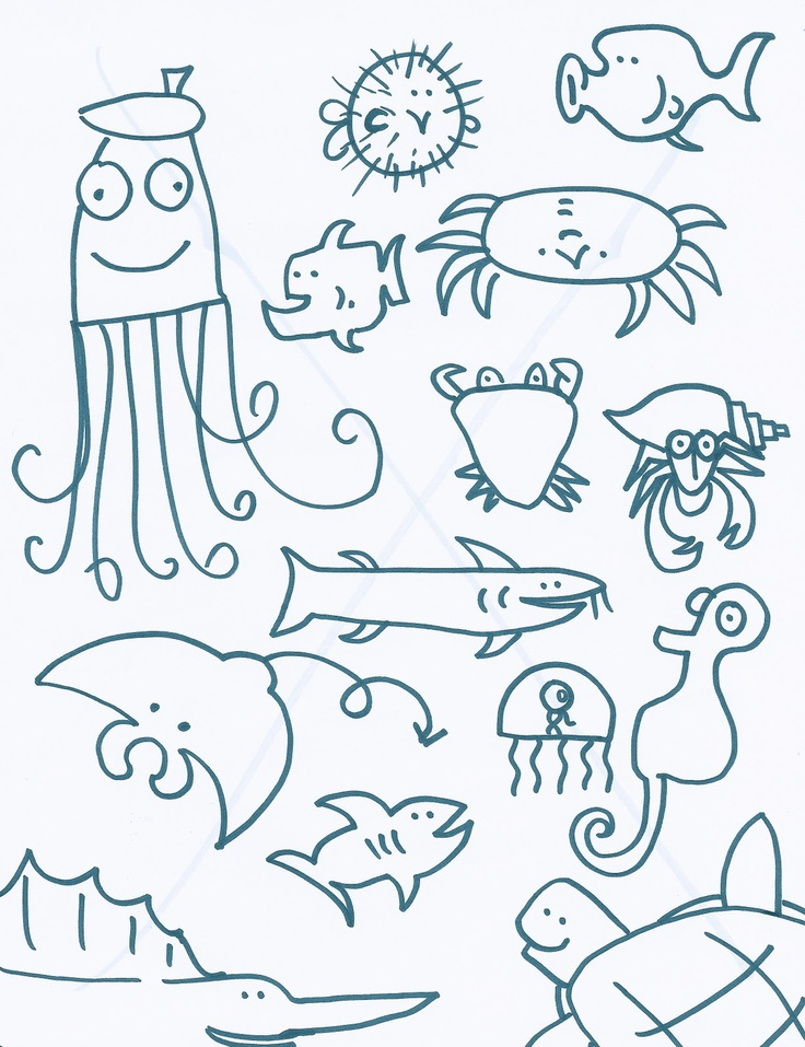 Drawn sea ocean creature Pinterest best images more on