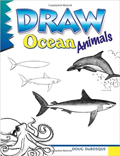 Drawn sea life line drawing Ocean Draw Dubosque: Books Amazon