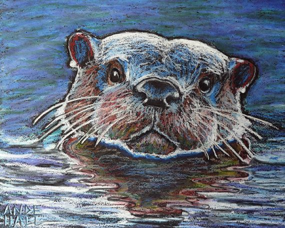 Drawn sea life river PAINTING OTTERS 63 more on