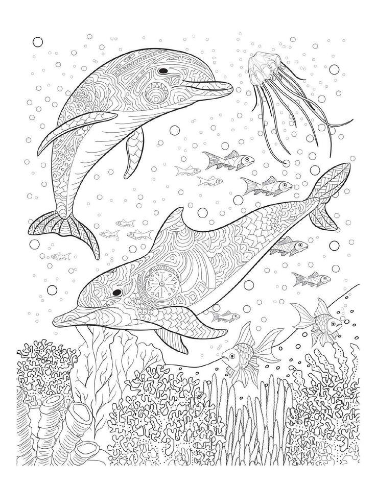 Drawn sea life river Coloring Pinterest Oceana 25+ ideas