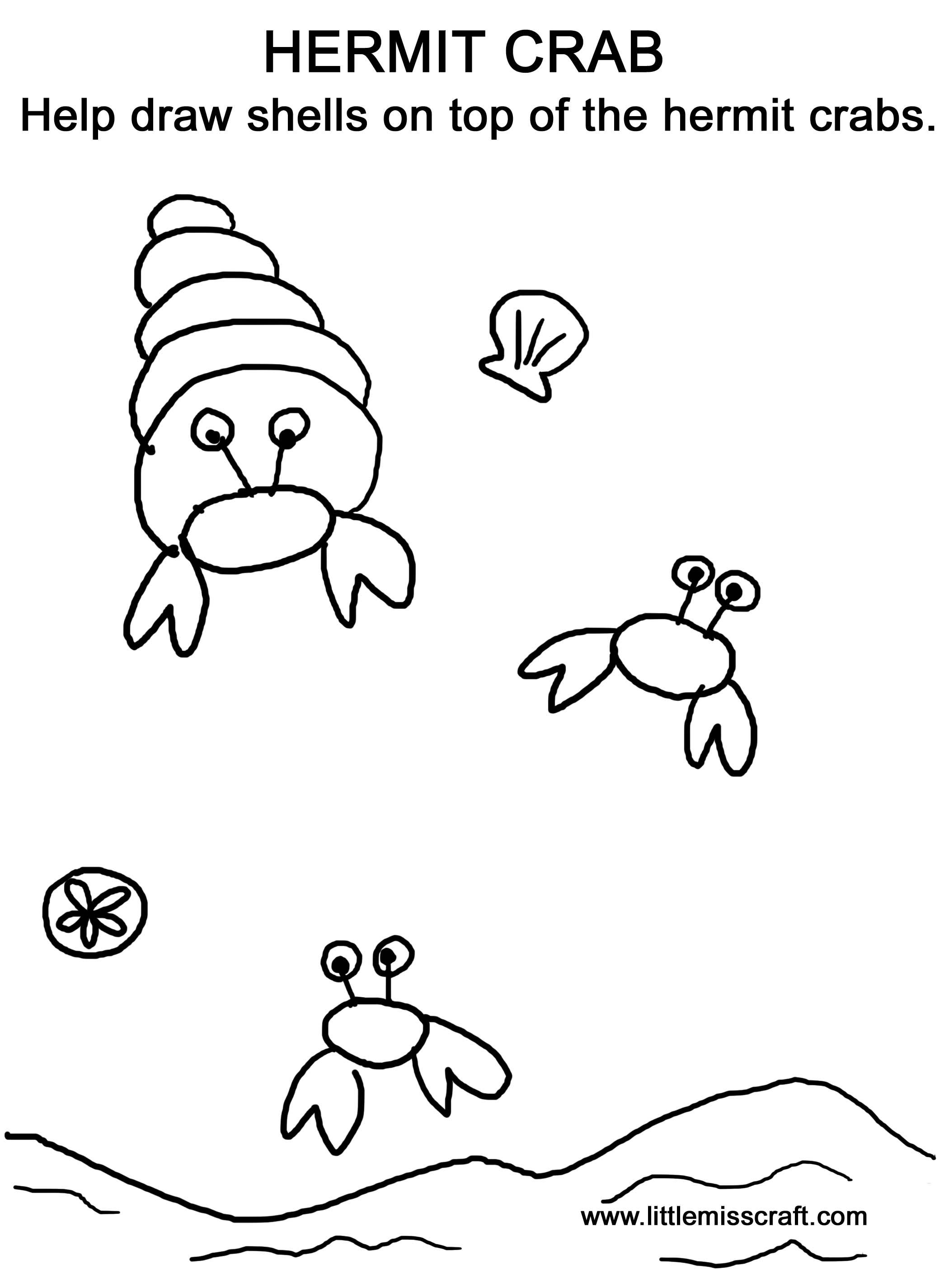Drawn sea life sea crab Sea photo#19 crab Sea drawing
