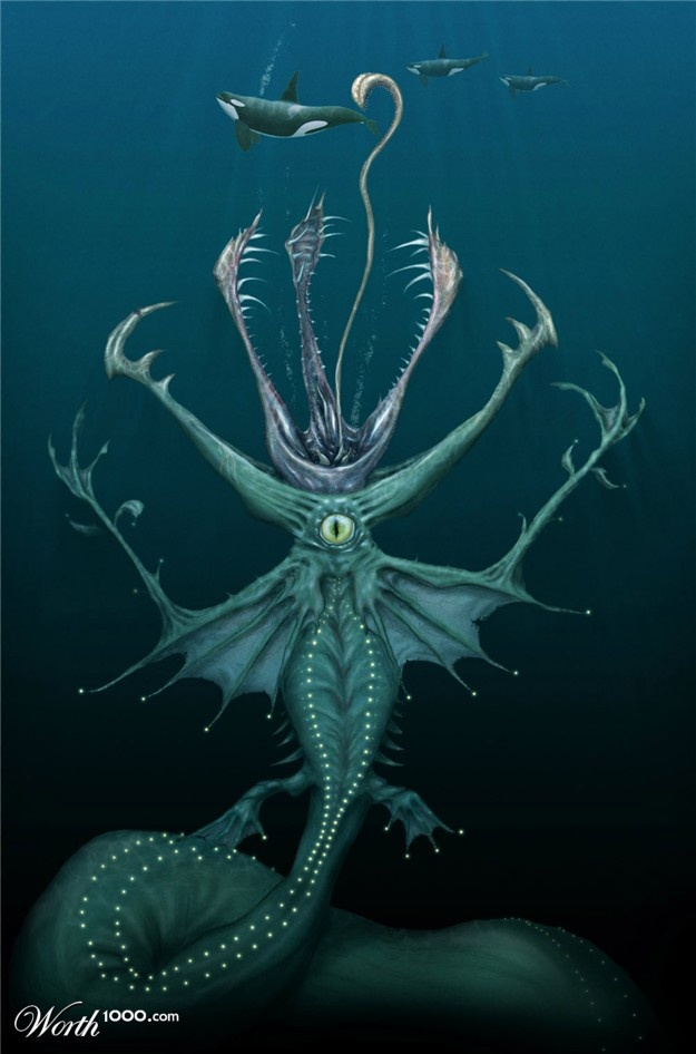 Drawn sea life sea monster 25+ Pinterest Sea best The