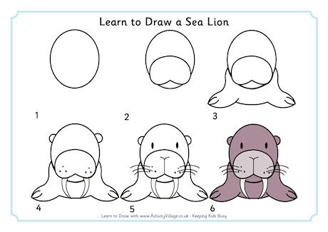 Drawn sea life simple Learn  to Sea Creatures