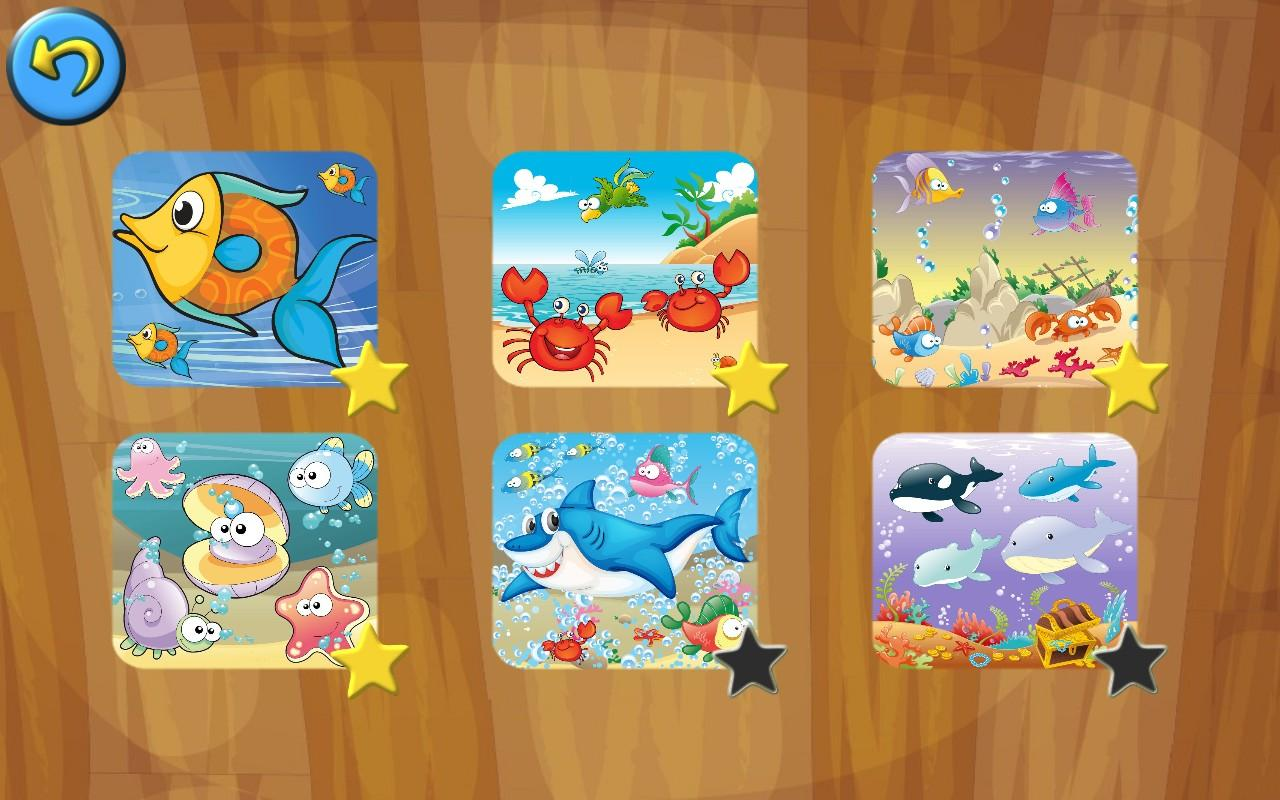 Drawn sea life under sea Kids Puzzle Puzzle Jigsaw Sea