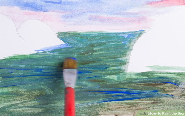 Drawn sea painted Sea Image titled Paint Step