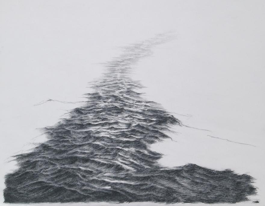 Drawn sea pencil drawing Leeson O'Leary  Kirsty