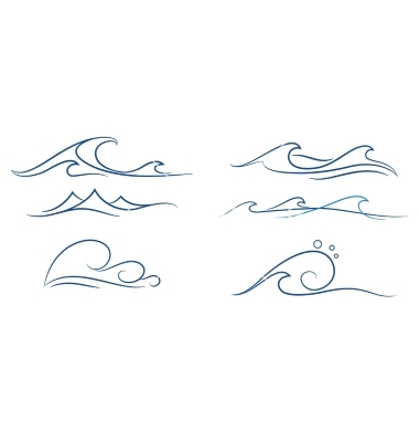 Drawn sea simple Simple+waves+set+vector+on+VectorStock Simple+waves+set+vector+on+VectorStock Pinstripe Pinterest