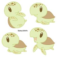 Drawn sea turtle chibi Sea turtles  by pictures