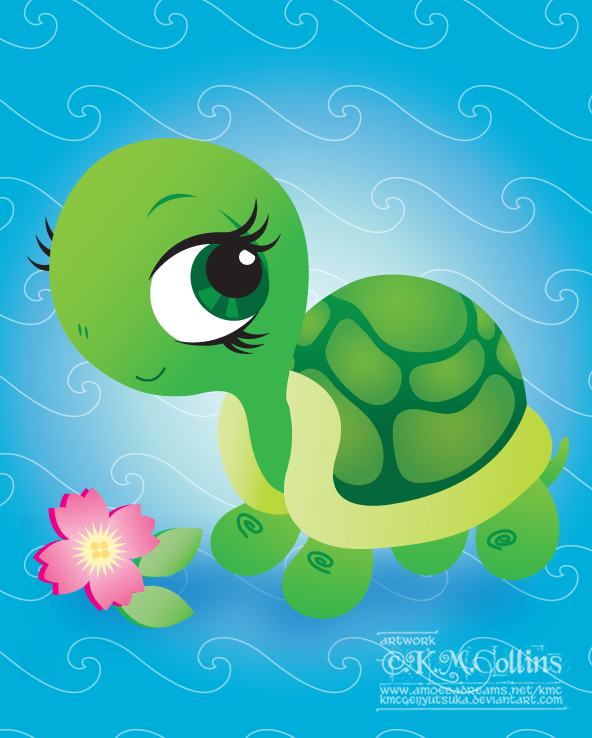 Drawn sea turtle chibi Turtle on Wallpapers by Hd