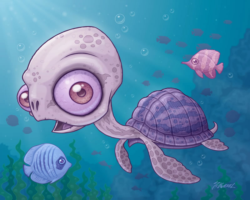 Drawn sea turtle chibi By on Sea by Turtle