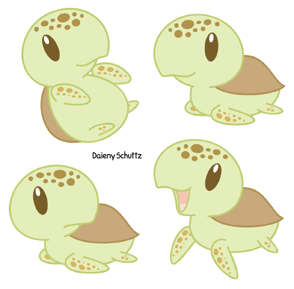 Drawn sea turtle chibi Sea on Daieny by com