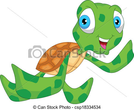 Sea Turtle clipart adorable cartoon #1