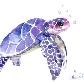 Drawn sea turtle face Painting on … Products Ocean