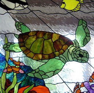 Drawn sea turtle fused glass Too!! Sea want I turtle