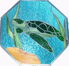 Drawn sea turtle fused glass Pictures Turtle Stained Gallery after