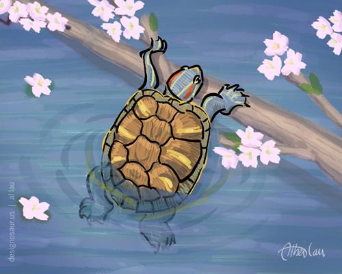Drawn sea turtle japanese turtle 12 blog turtle illustration: us