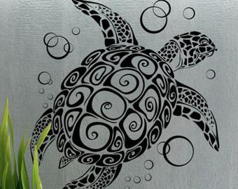 Drawn sea turtle mexico UBer Sea Art Etsy Sticker