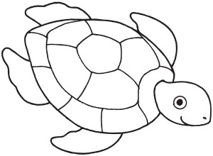 Drawn sea turtle pattern  Page Nesting Coloring Page: