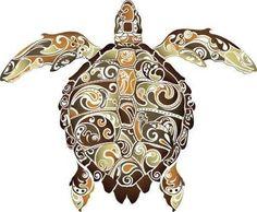 Drawn sea turtle scientific illustration Stick Decal Abstract Turtle Pinterest