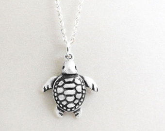 Drawn sea turtle silver dollar Sea sea jewelry turtle silver