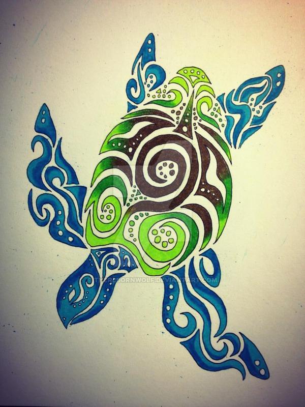 Drawn sea turtle tiki On Turtle @DeviantArt by @DeviantArt