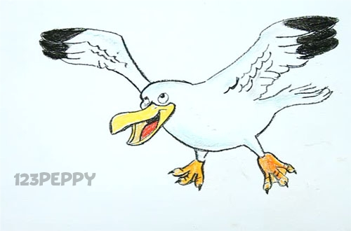 Drawn seagull seagul Cartoon seagull Seagull photo#16 cartoon