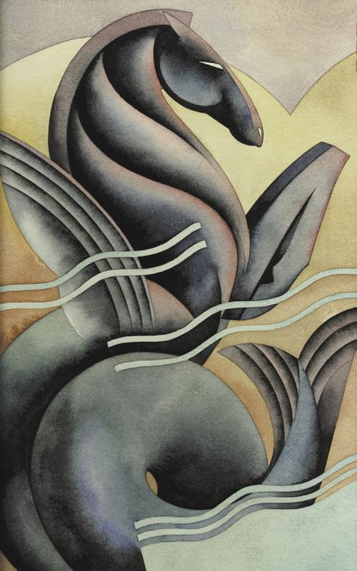 Drawn seahorse art deco Nick Art by Gaetano /