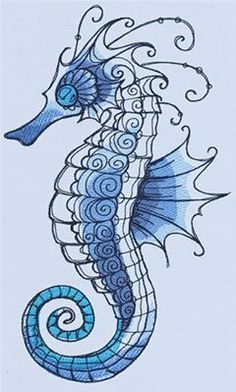 Drawn seahorse baby Vintage Tribal Seahorse_image Design Intricate