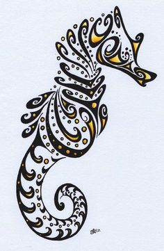 Drawn seahorse baby By on Draw Seahorse and