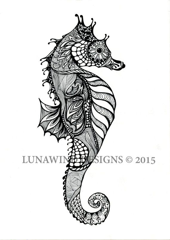 Drawn seahorse baby Land print art best and