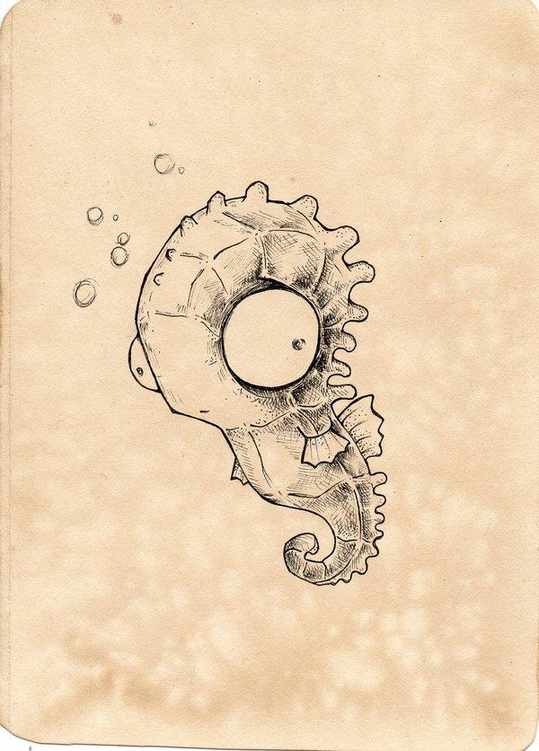 Drawn seahorse deviantart Seahorse by UMINGA seahorse Miles:the