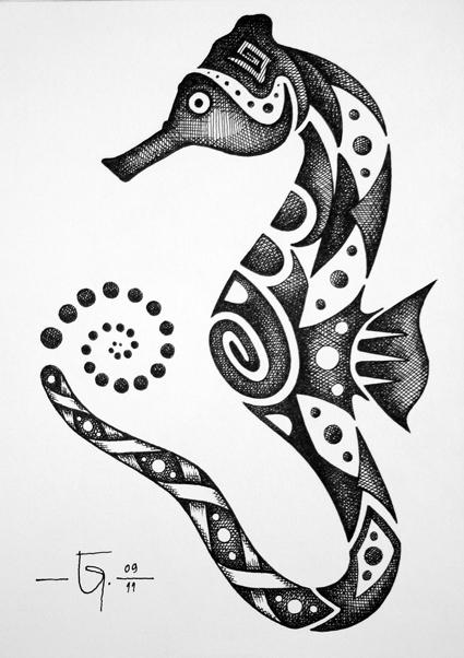 Drawn seahorse deviantart On Garel Seahorse by Garel