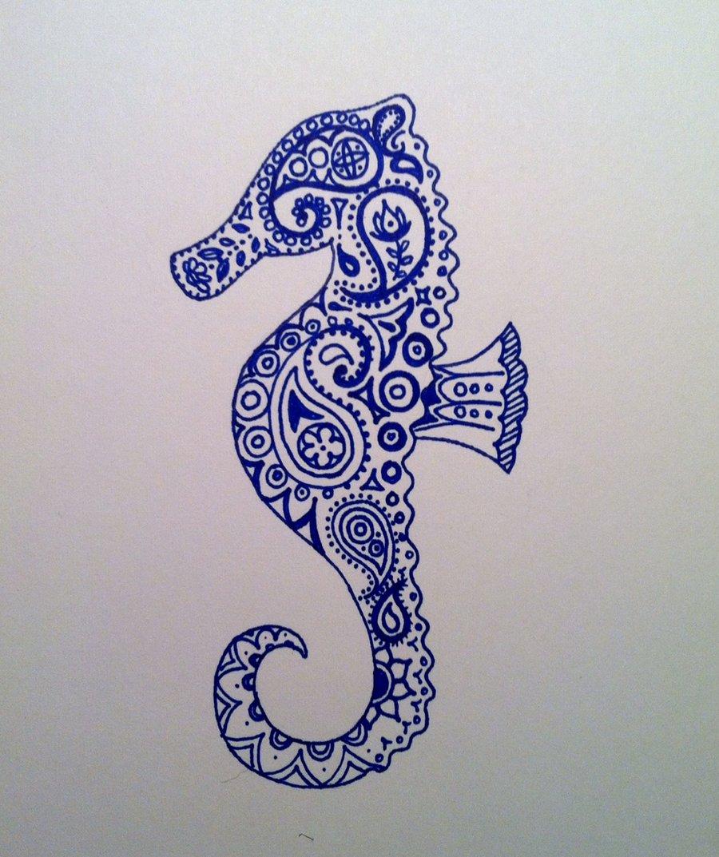 Drawn seahorse deviantart DeviantART by on Tattoos