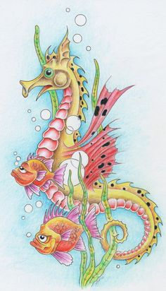 Drawn seahorse dragon  on Creative and ~markfellows