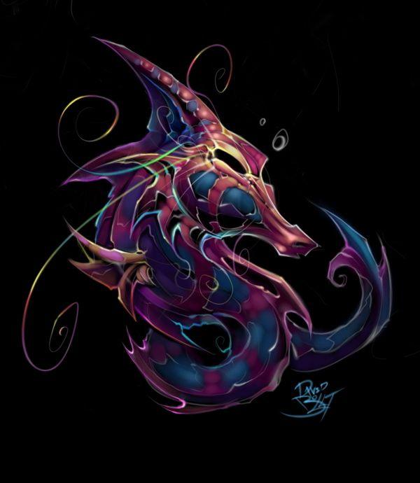 Drawn seahorse dragon On *DavidBollt Dragon / by