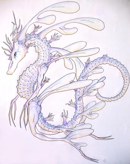 Drawn seahorse dragon By DeviantArt xenomorphlv426 original seahorse
