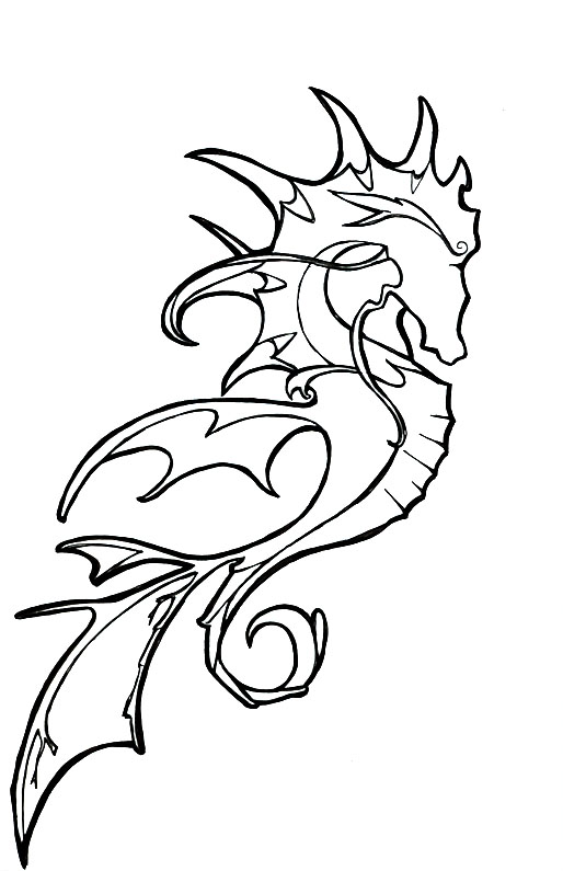 Drawn seahorse dragon Okami DeviantArt Rod by Seahorse