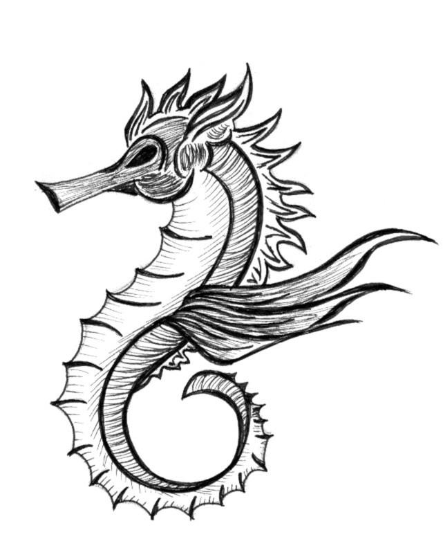 Drawn seahorse dragon Design com Tattoo Dragon Tattoo