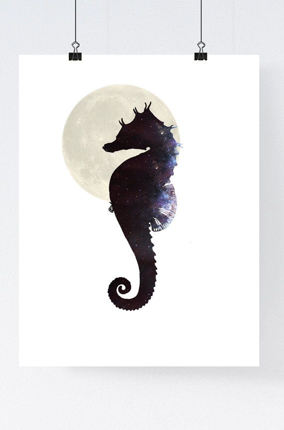 Drawn seahorse geometric Pinterest best WhiteDoePrints 151 print