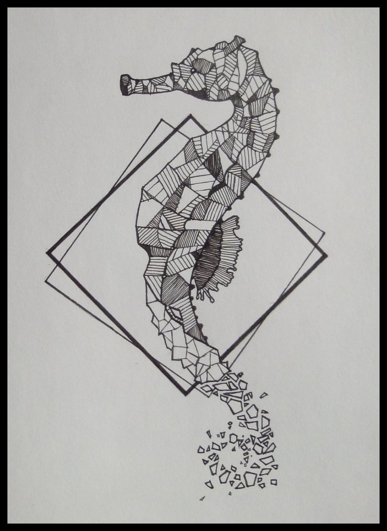 Drawn seahorse geometric On by EmagineNationS Seahorse geometric