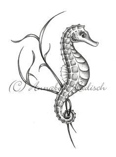 Drawn seahorse realistic Skeleton Grey Seahorse Grey ·