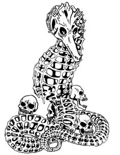 Drawn seahorse skeleton Photo by on skeleton KingJorge