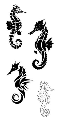 Drawn seahorse tribal Pinterest  animal animal More