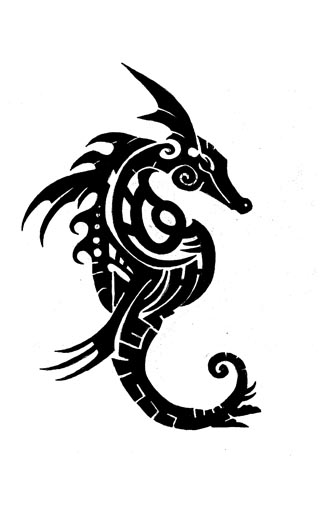 Drawn seahorse tribal Pinterest by by  on