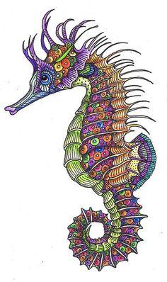 Drawn seahorse underwate animal : ClipArt Best Best To