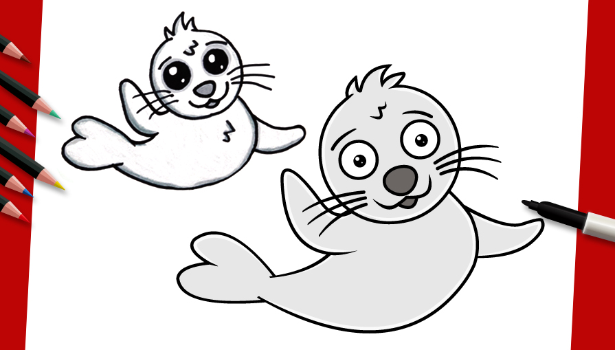 Drawn seal ocean animal For by How Ocean step