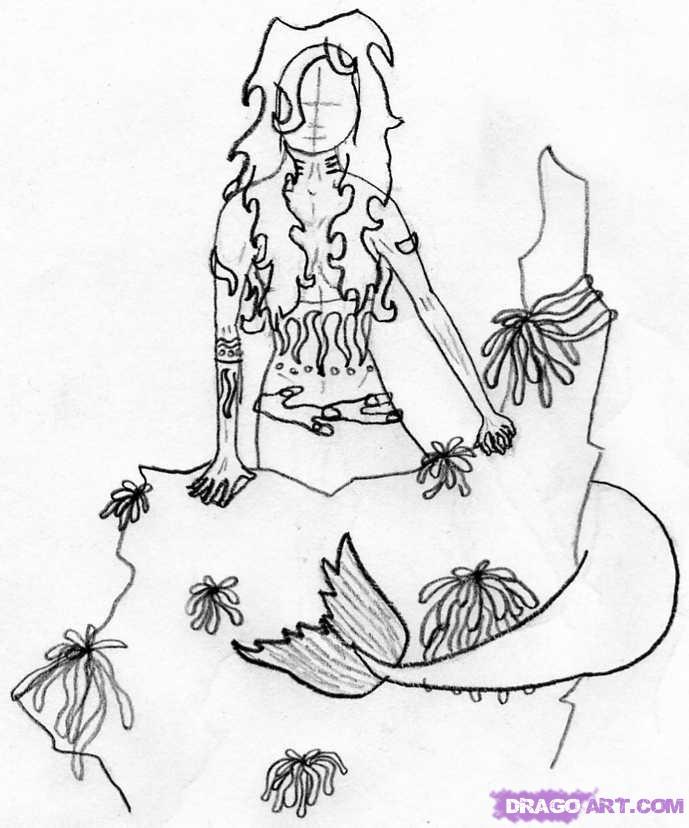 Drawn seaweed realistic By mermaid How to step