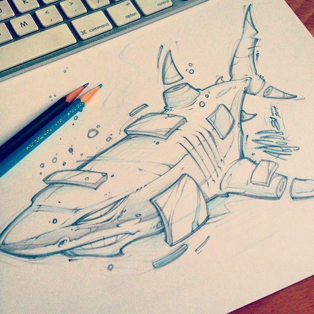 Drawn shark graffiti Ideas likes drawing post Pencil